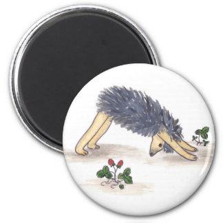 Hedgehog Yoga Refrigerator Magnet