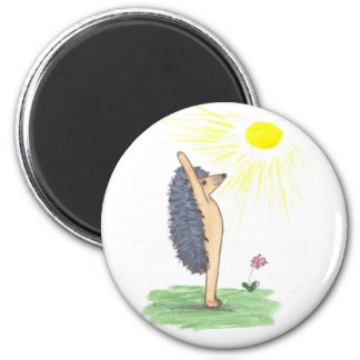 Hedgehog Yoga, Mountain Pose (Arms Stretched Up) Refrigerator Magnets