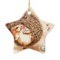 Hedgehog YUM! Ceramic Ornament