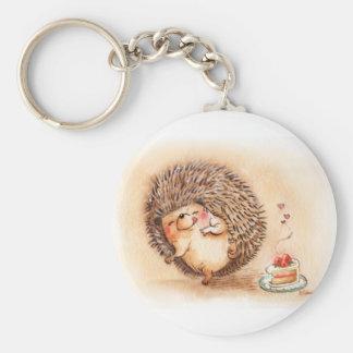 Hedgehog Yum Key Chains