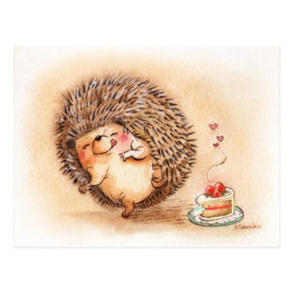 Hedgehog Yum! Postcard