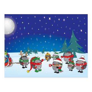 Hedgehog's Christmas magic Postcard