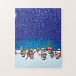 Hedgehog's Christmas magic Puzzles