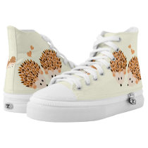 Hedgehogs illustration High-Top sneakers
