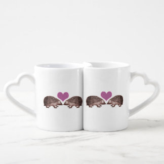 Hedgehogs in Love Hearts and Hedgies Couples Coffee Mug