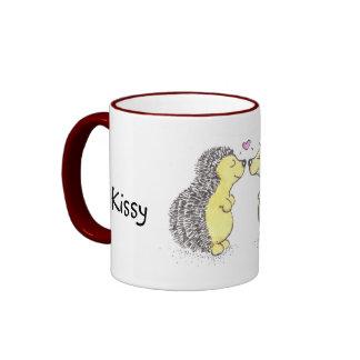Hedgehogs in love ringer coffee mug