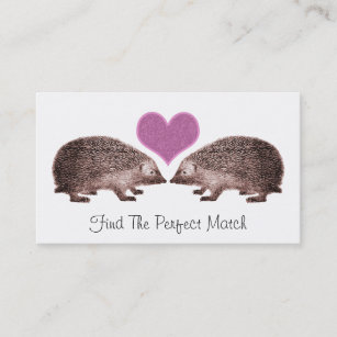 Dating service business cards templates zazzle hedgehogs in love romantic matchmaking dating business card colourmoves