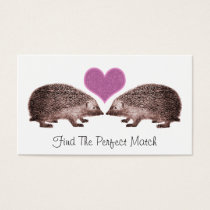 Hedgehogs in Love Romantic Matchmaking Dating Business Card