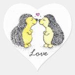 Hedgehogs in Love Sticker