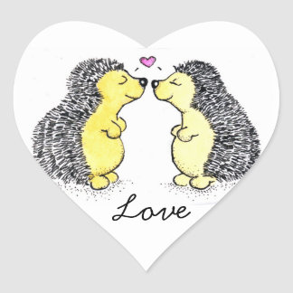 Hedgehogs in Love Sticker