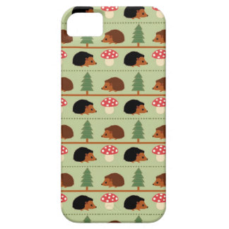 Hedgehogs, Mushrooms and trees iPhone SE/5/5s Case
