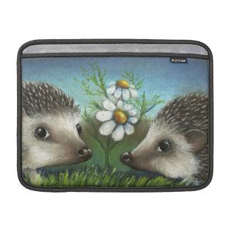 Hedgehogs on a date MacBook air sleeve