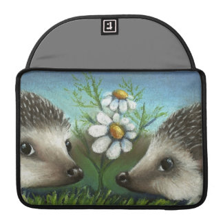 Hedgehogs on a date sleeve for MacBooks
