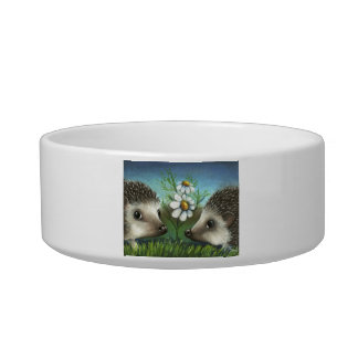 Hedgehogs on a date pet water bowl