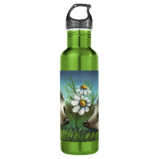 Hedgehogs on a date 24oz water bottle
