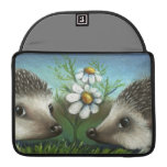 Hedgehogs on a date sleeves for MacBook pro