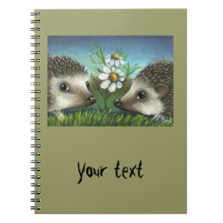 Hedgehogs on a date spiral note book