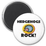 Hedgehogs Rock 2 Inch Round Magnet