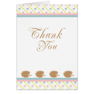 Hedgehogs Thank You Card