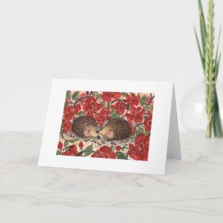 Hedgehogs' Valentine Card card
