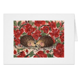 Hedgehogs' Valentine Card