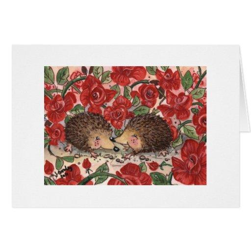 Hedgehogs' Valentine Card