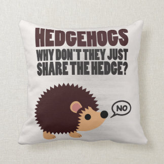 Hedgehogs. Why Don't They Just Share The Hedge? Throw Pillow