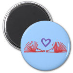 Hedgehogs with Heart 2 Inch Round Magnet