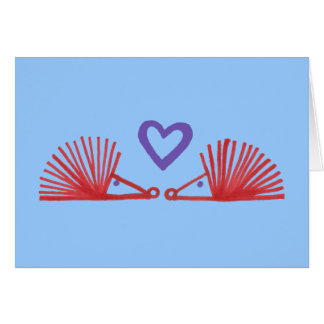 Hedgehogs with Heart Card