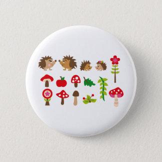 hedgehogsBall Pinback Button