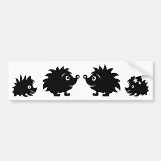 HedgehogSilhouetteAll Bumper Sticker