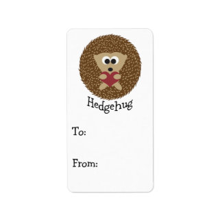 Hedgehug Hedgehog Label