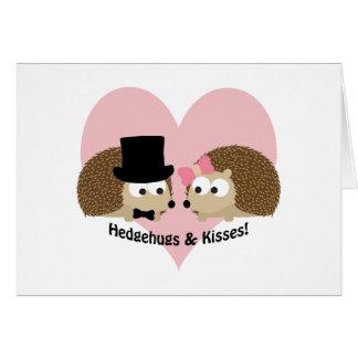 Hedgehugs and Kisses Hedgehog Couple Card