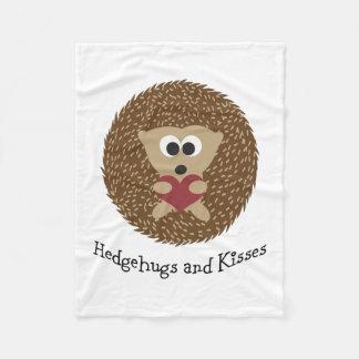 Hedgehugs and Kisses Hedgehog Fleece Blanket
