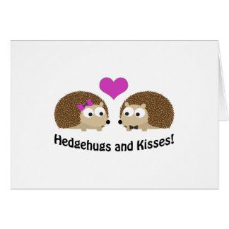 Hedgehugs and Kisses Hedgehog Love Card