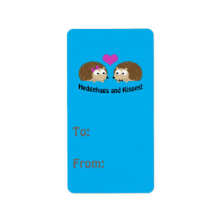 Hedgehugs and Kisses Hedgehog Love Label