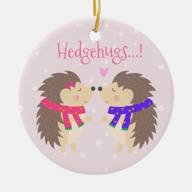 Hedgehugs! Cute Hedgehog Christmas