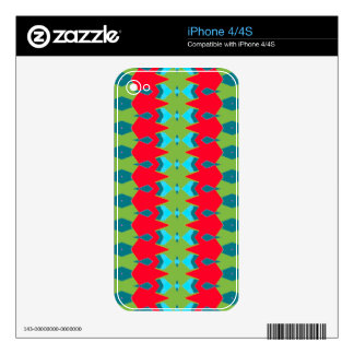 Hedgerow Design on iPhone 4/4S Skin Decal For iPhone 4