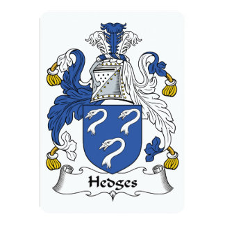 Hedges Family Crest Card