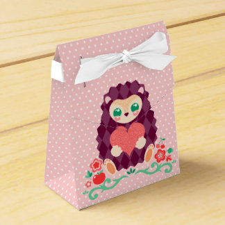 Hedgie lindo con el corazón - cajas del favor caja para regalo de boda