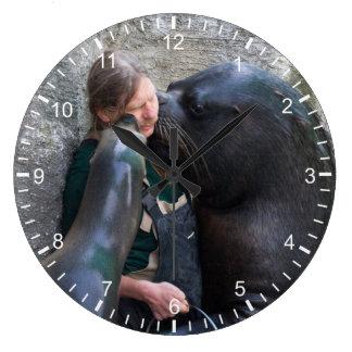 Hediondo moje los besos reloj redondo grande