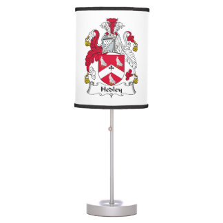 Hedley Family Crest Table Lamp