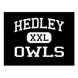 Hedley - Owls - Hedley High School - Hedley Texas Postcard