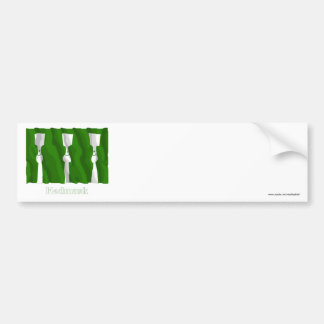 Hedmark waving flag with name bumper stickers