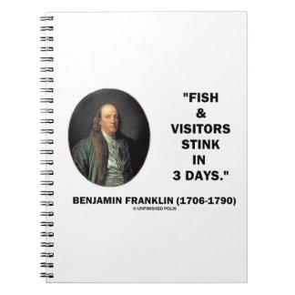 Hedor de los pescados y de los visitantes de spiral notebook