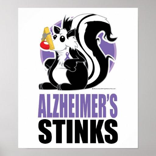 Hedores de la enfermedad de Alzheimer Poster