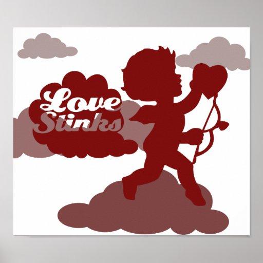 hedores del amor del Cupid del día de las anti-tar Impresiones