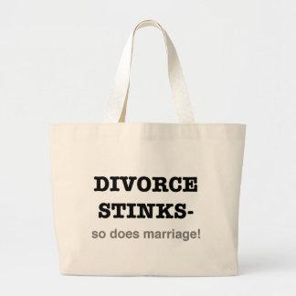 ¡Hedores del divorcio - hace tan boda! Bolsa Tela Grande