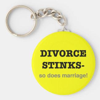 ¡Hedores del divorcio - hace tan boda! Llavero Redondo Tipo Pin