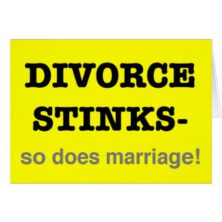 ¡Hedores del divorcio - hace tan boda! Tarjeta De Felicitación